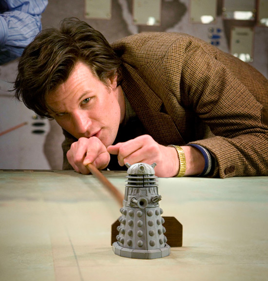 Pics Matt Smith And The Daleks