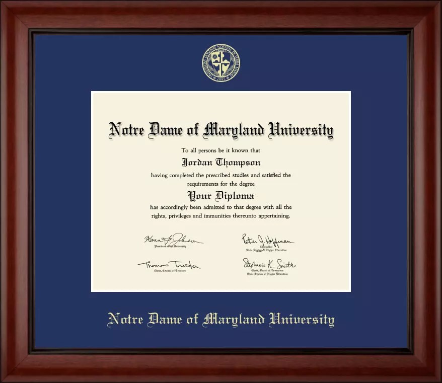 Notre Dame Of Maryland University Diploma Frames | Framess.co