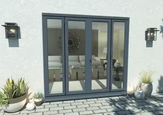 climadoor grey aluminium french doors part q compliant patio door