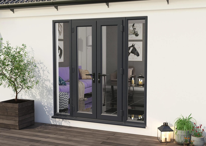 climadoor upvc french doors anthracite grey patio door