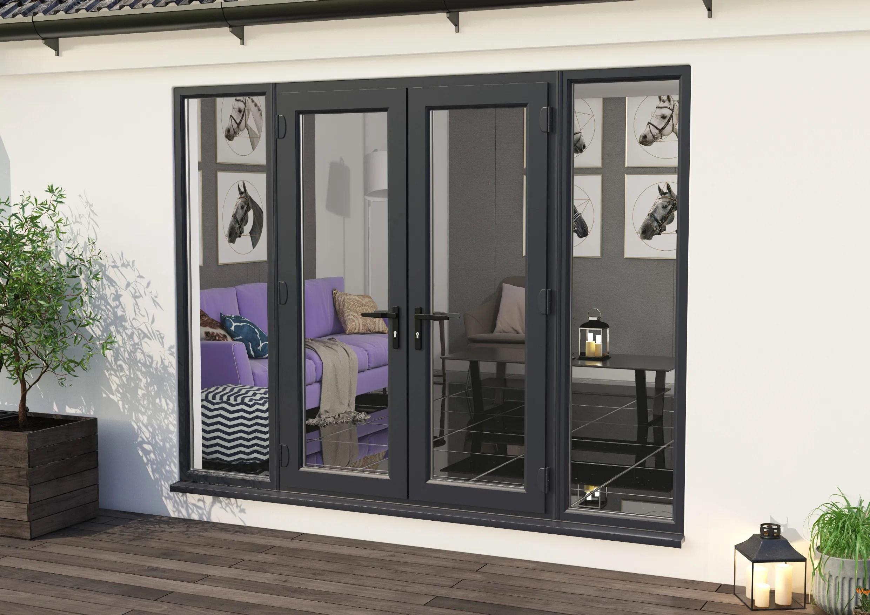 climadoor upvc french doors anthracite grey part q compliant patio door