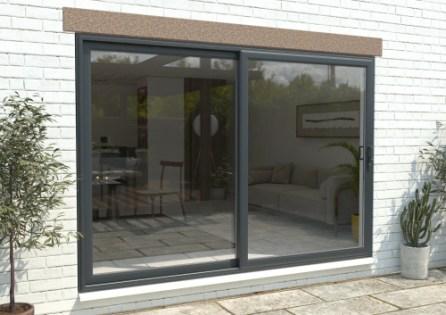 climadoor upvc sliding patio doors anthracite grey