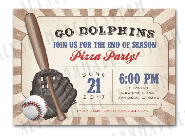 10 Baseball Party Invitations