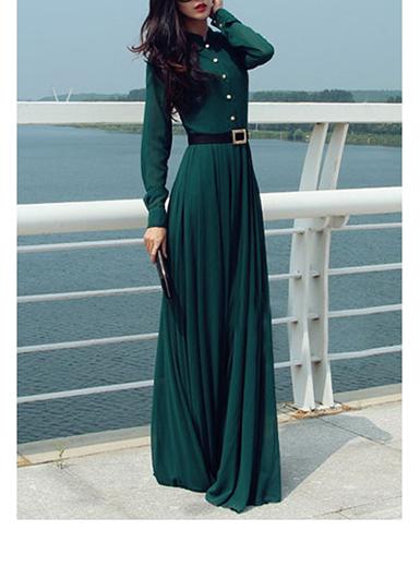 Womens Maxi Dress Forest Green