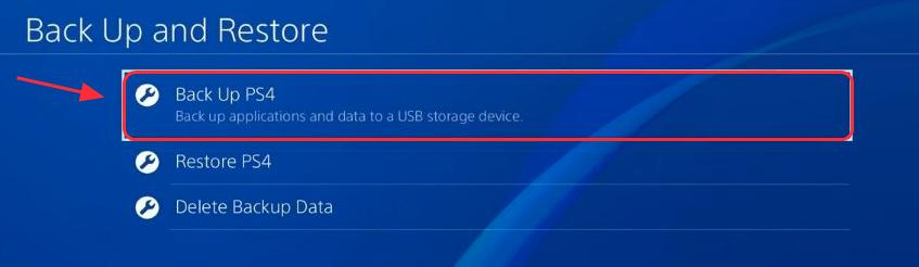 back up PS4 before fixing Error CE-34335-8