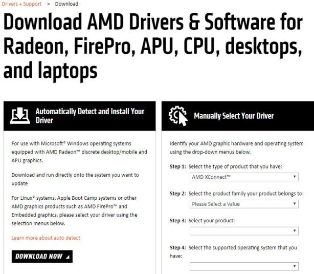Download or Update AMD graphics drives automatically