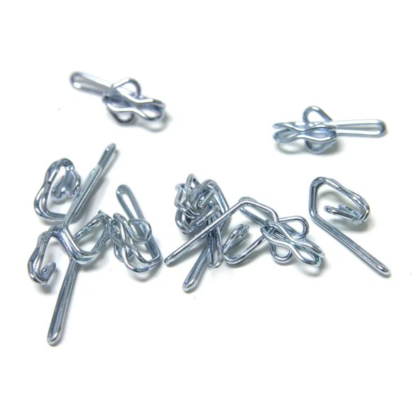 pack of 25 metal curtain hooks