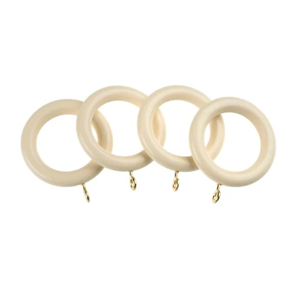 universal pack of 4 35mm wooden curtain rings