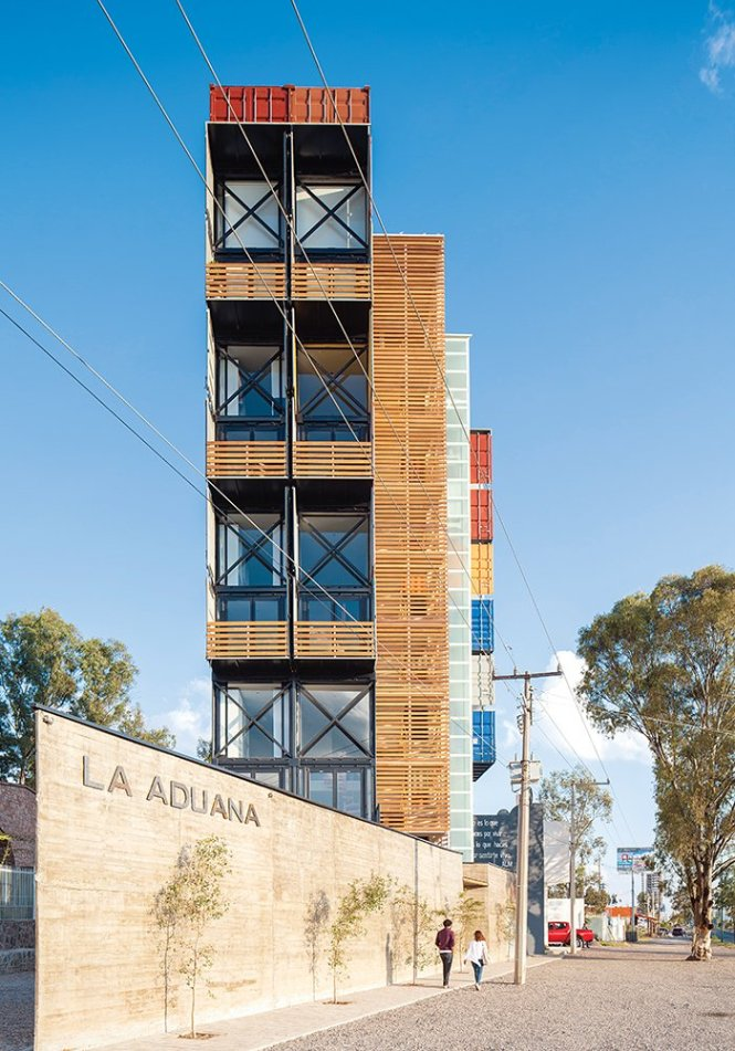 Articles About Adventurous Apartment Building Made 36 Shipping Containers On Dwell