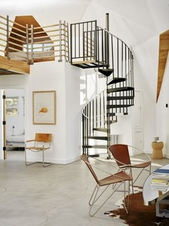 Best 60 Modern Staircase Metal Tread Design Photos And Ideas Dwell   Loft With Spiral Staircase   Small   Contemporary   Addition   Timber   New