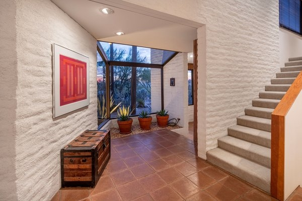 Photo 1 Of 1520 In Staircase Photos From One Of Arizona S Most | Front Side Staircase Design | Ground Floor Tower | Gallery Photo Indian | Parapet Wall Front | Italian Type House | Residential Stair Tower