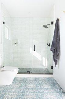 modern bathroom cement tile floors