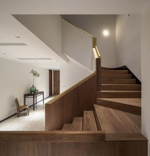 Best 60 Modern Staircase Metal Railing Design Photos And Ideas   Staircase Handrail Wood Design   Wooden Balustrade   Modern   3 Story House   Internal Staircase Railing   Railing Colour