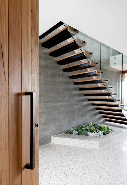 Best 60 Modern Staircase Wood Railing Design Photos And Ideas Dwell   Wooden Railing Designs For Stairs   Handrail   Different Kind Wood   Combination Wood   Interior   Indoor