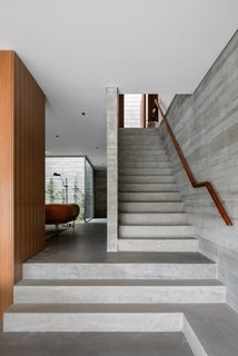 Best 60 Modern Staircase Design Photos And Ideas Dwell | Home Front Stairs Design | Outside Stair | Double Floor | Building | Balcony | Beautiful