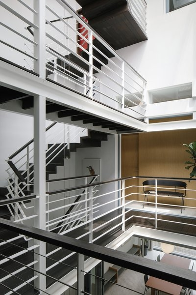 Best 60 Modern Staircase Design Photos And Ideas Page 2 Dwell   Main Entrance Stairs Design   Exterior   Backyard Patio   Patio   Front Yard   Traditional