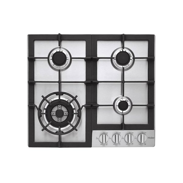 """Haier 24"""" Gas Cooktop in Stainless Steel with 4 Burners"""