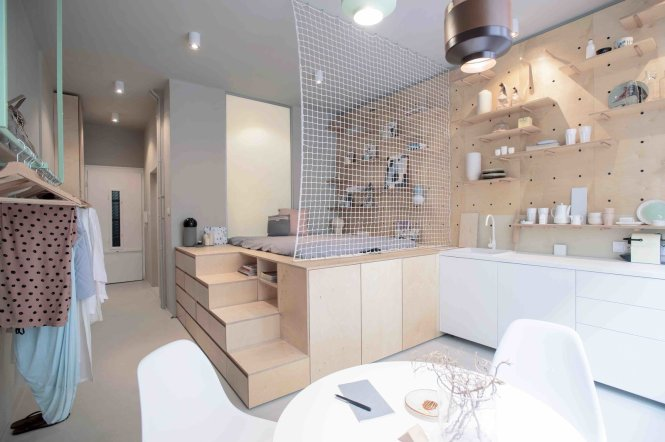 3 Smart Storage Systems Maximize E In A Tiny Studio Apartment Budapest