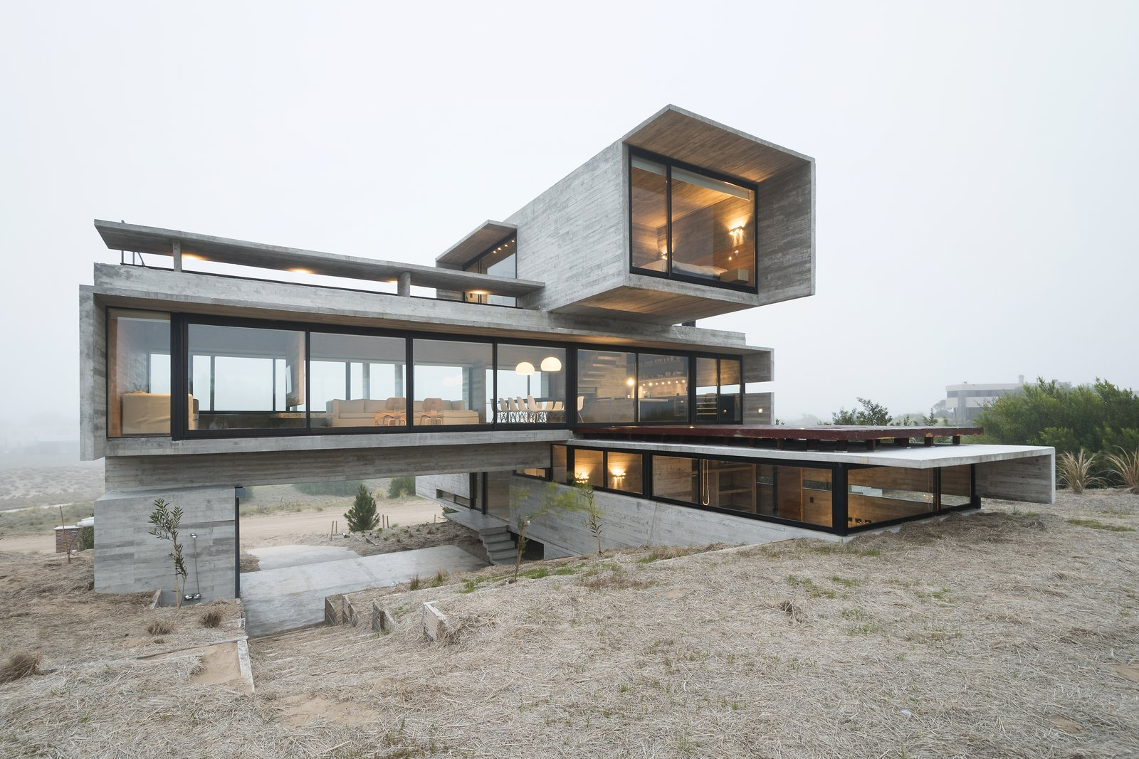This Stacked Concrete Home Is Not Your Typical Golf Course