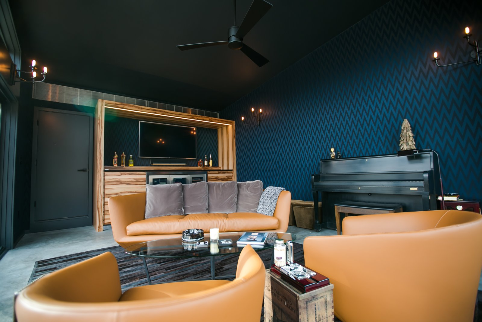 Modern Cigar Room Modern Home In Indianapolis Indiana By