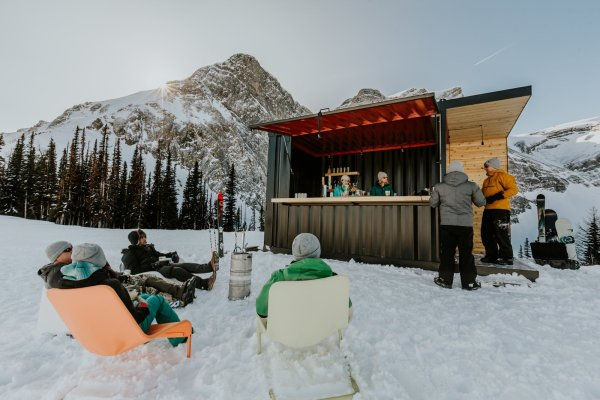 This Prefab Shipping Container Bar Can Pop Up Just About