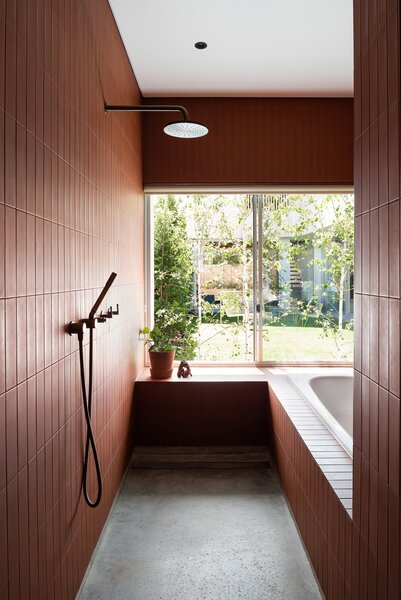 modern bathroom ceramic tile walls