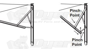 Dometic 9100 Power Awning Bent