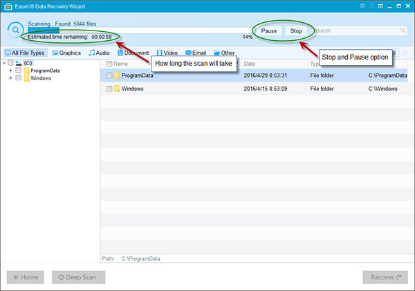 EaseUS hard drive recovery tool with User Guide 3
