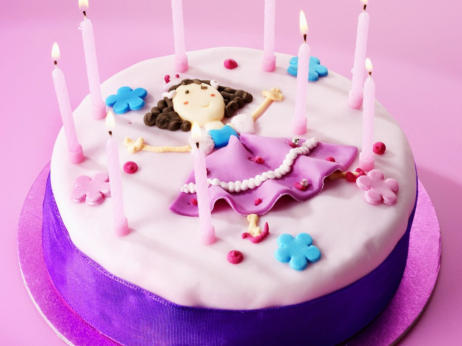 Girls Birthday Cake With Candles Recipe Eat Smarter Usa