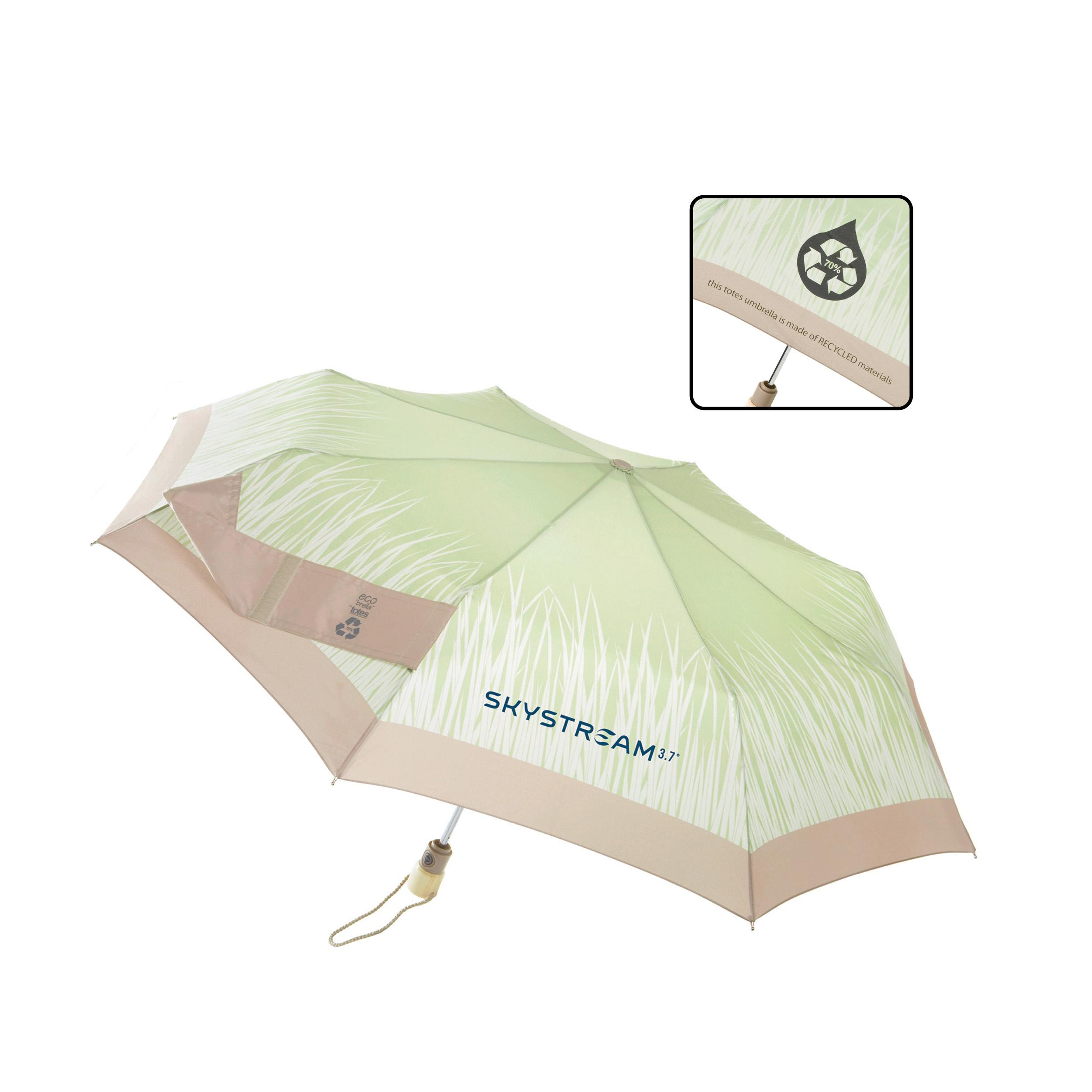 totes&#174 Eco'brella&#8482 Auto Open/Close Promotional Umbrellas from Vitronic Promotional Group