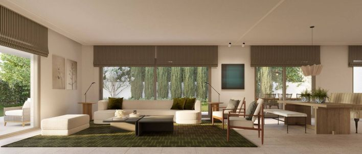 Infografía del interior de las futuras viviendas.