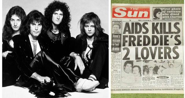 Imagen de Queen y portada de 'The Sun'.