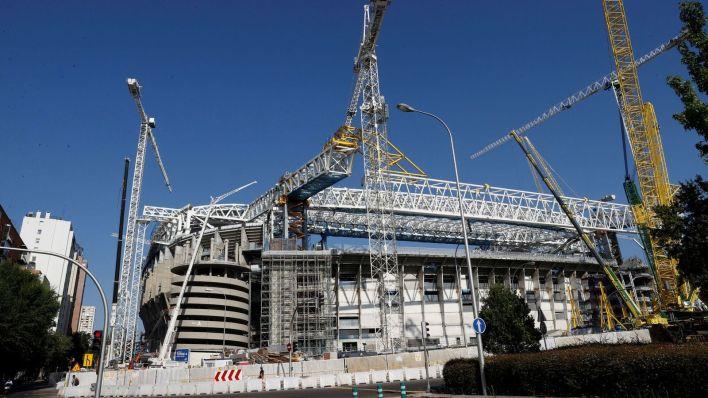 El Bernabéu se prepara para acoger a su afición. (EFE)