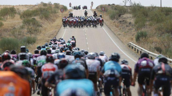 Imagen de la 13ª etapa de La Vuelta Ciclista a España. (EFE)