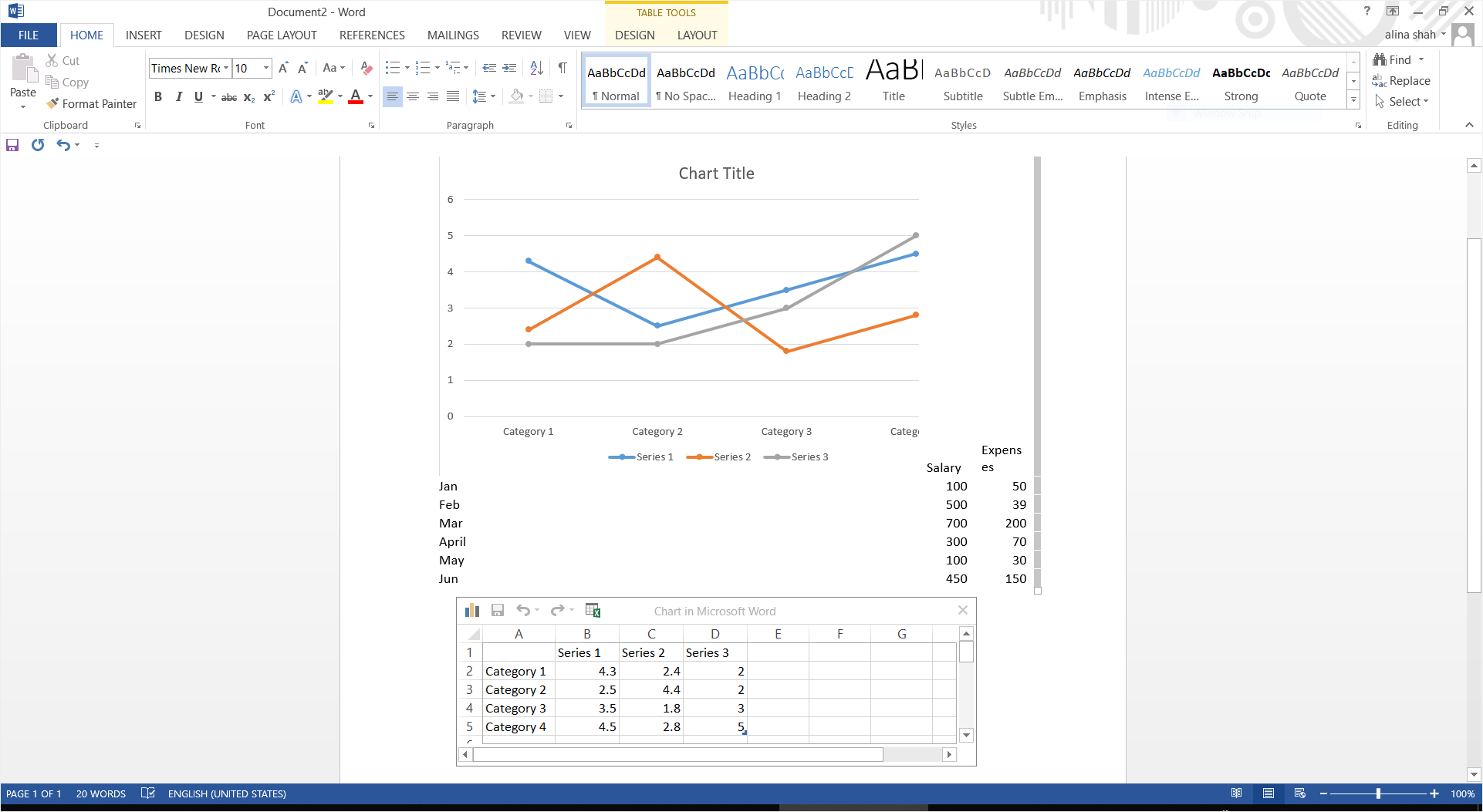 How To Make A Line Graph In Word