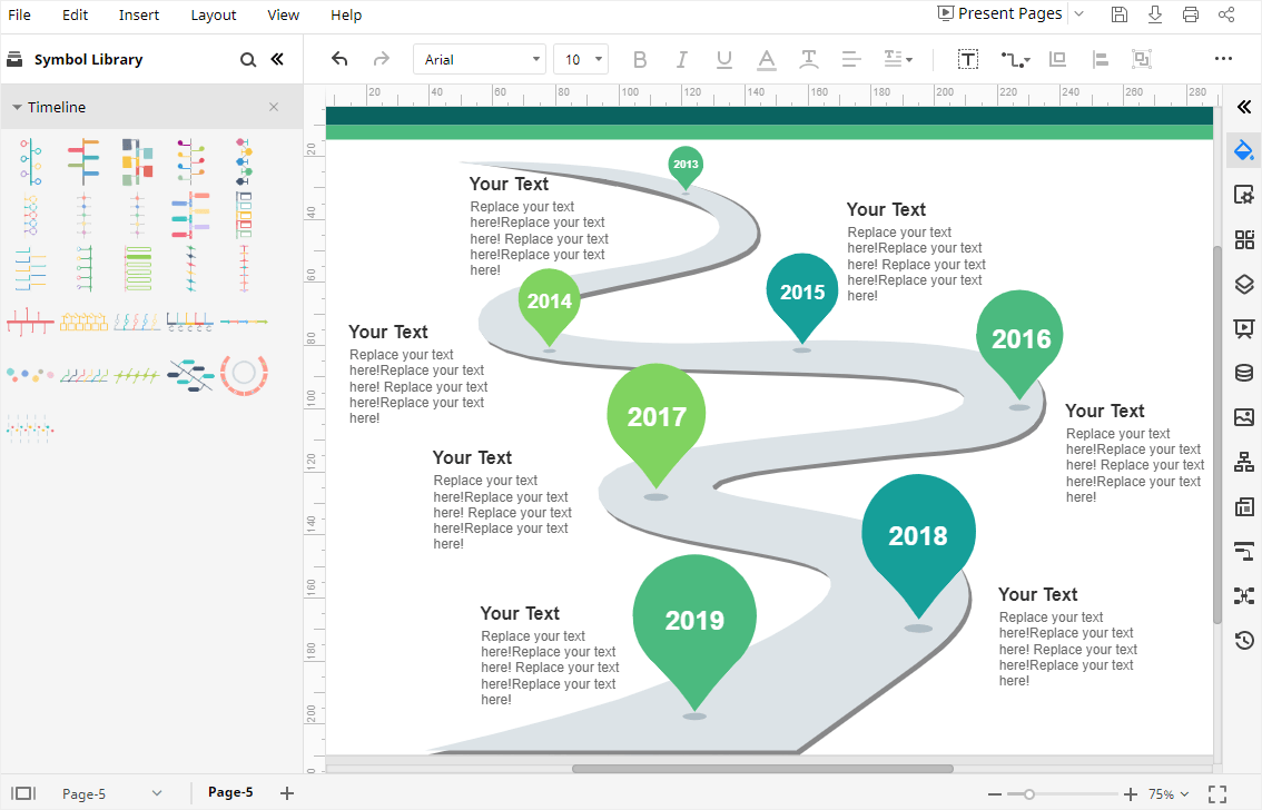 Project timeline is a template for google slides that's built around showing off your roadmap. How To Make A Timeline In Google Sheets Edrawmax Online