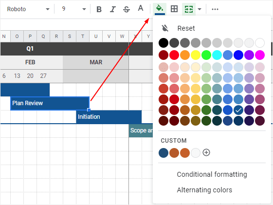 Learn about timeline graphics and how to make them in google docs, microsoft word, excel, google sheets, and powerpoint. How To Make A Timeline In Google Sheets Edrawmax Online