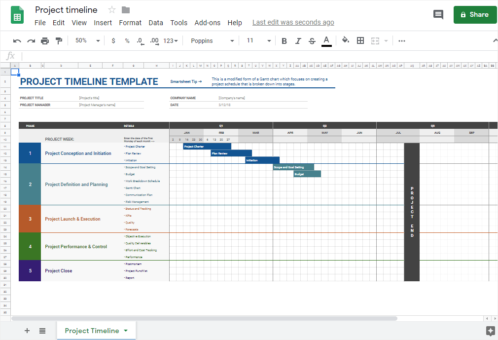 Choose all in one plan for templates, designs, documents, forms, editors, applications. How To Make A Timeline In Google Sheets Edrawmax Online