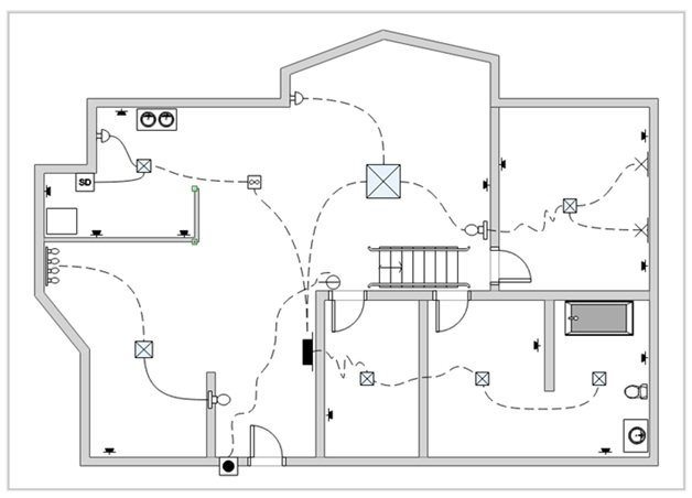 wiring diagram with home blueprints  alkco fixture wiring