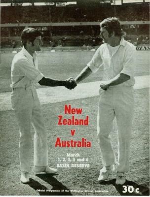 Programme: New Zealand v Australia, First Test, Basin Reserve, Wellington, 1, 2, 3, 5, 6 March 1974; Wellington Cricket Association; 1974; 2007.69.1