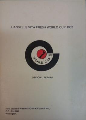Tour Report: 1982 World Cup ; New Zealand Womens' Cricket Association; C.1982; 2018.8.13