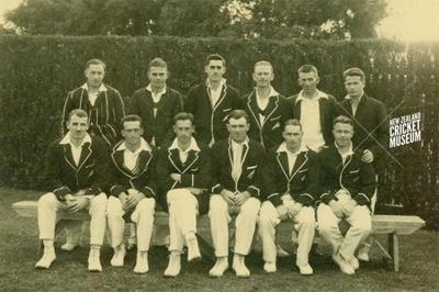 Photo: New Zealand cricket team that played England, January 1930; Steffano Webb; Jan 1930; 98/213