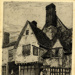 The Old Boot Inn, 1889: etching by F L Griggs