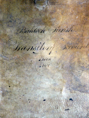 Baldock Parish Transitory Account Book, 1801; Trigg, James; 1800-1801; 7380/14