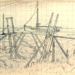 drawing, ink Marsh bridge; Ratcliffe, William; 1910 - 1950; 1955.46