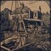 woodcut Harbour scene; Ratcliffe, William; 1910 - 1950; 1979.132