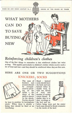 What mothers can do to save buying new pamphlet; Fosh & Cross Ltd.; Board of Trade