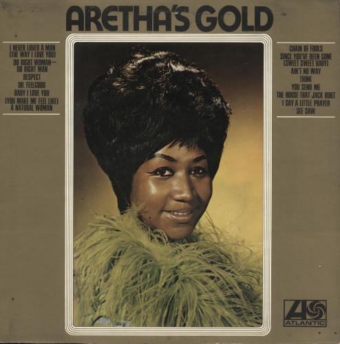 Aretha Franklin Aretha's Gold vinyl LP album (LP record) UK ARELPAR317135