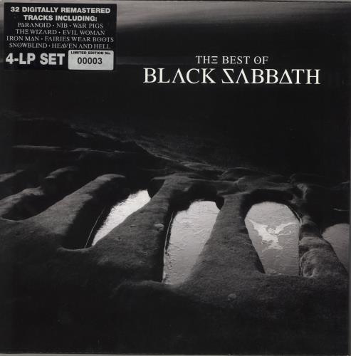 Black Sabbath The Best Of - 00003 4-LP vinyl album set (4 records) UK BLK4LTH715218