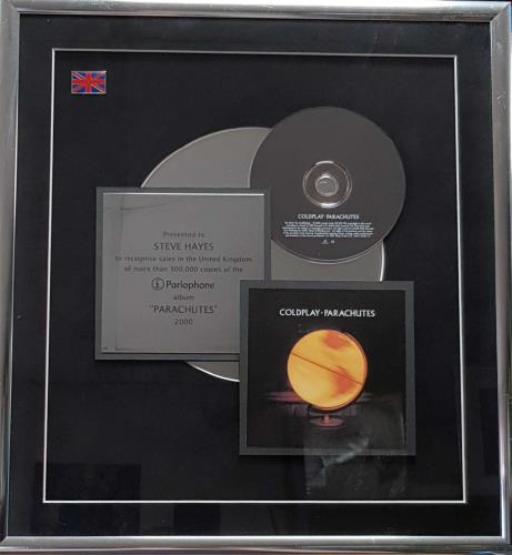Coldplay Parachutes award disc UK DPYAWPA534603